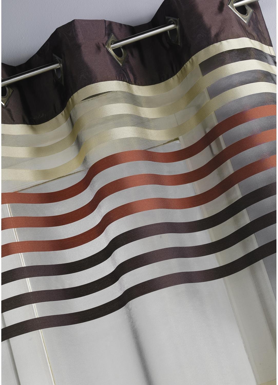 voilage bouchara en organza ray bleu moka rose homemaison vente en ligne voilages. Black Bedroom Furniture Sets. Home Design Ideas