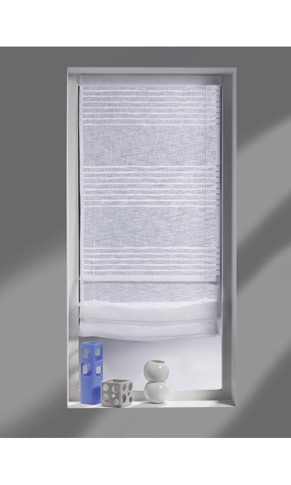 store bateau avec rayures horizontales blanc ivoire lin homemaison vente en ligne. Black Bedroom Furniture Sets. Home Design Ideas