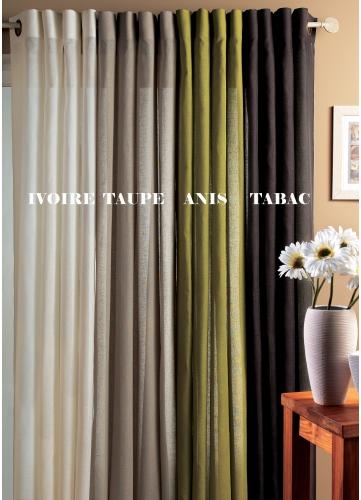 tendances rideaux rideaux sur mesure rideaux lin. Black Bedroom Furniture Sets. Home Design Ideas