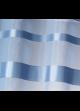 Store à remonter voilage à rayures horizontales  Bleu