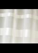 Store à remonter voilage à rayures horizontales  Ivoire