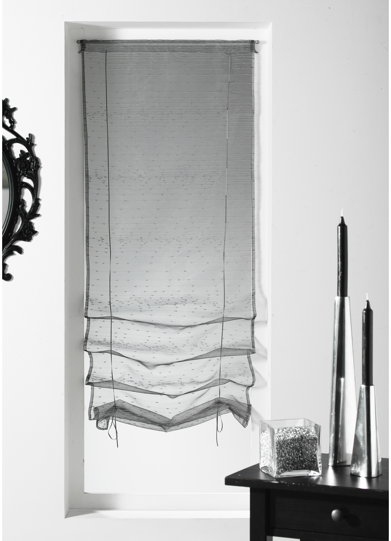 Store remonter voilage organza fantaisie goutte d eau for Voilage cuisine 60 x 90