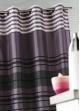 Rideau Shantung rayure chenille  Prune