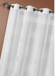 Voilage Etamine Brodée  Blanc