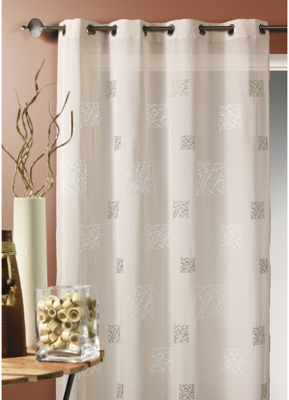 voilage etamine brod e lin blanc bordeaux taupe gris homemaison vente en ligne. Black Bedroom Furniture Sets. Home Design Ideas