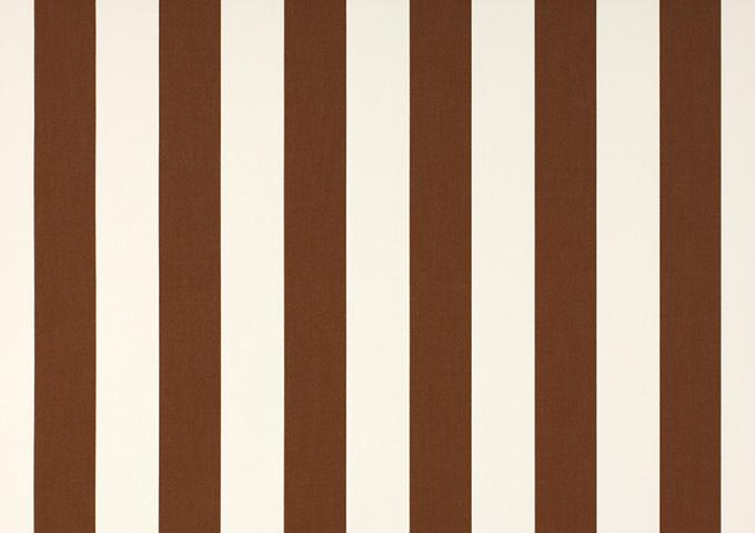 Toile de store banne Dickson col rayures blanc marron (Marron)