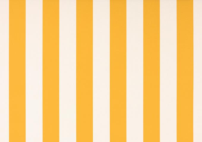 Toile de store banne Dickson col rayures blanc jaune (jaune et blanc)