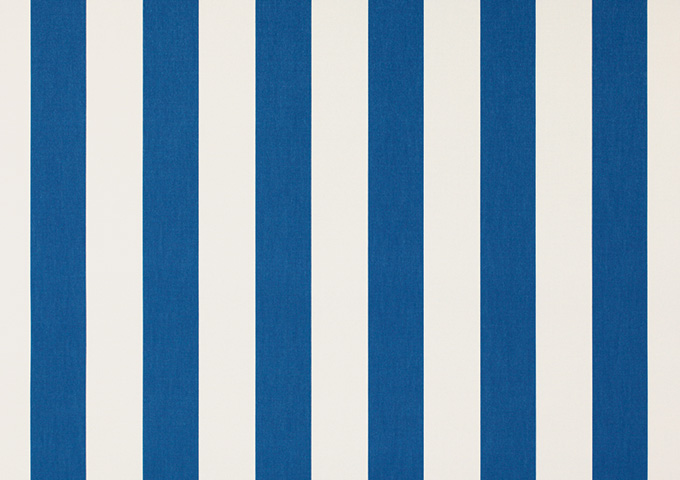 Toile de store banne Dickson rayures col blanc/bleu (blanc / bleu)