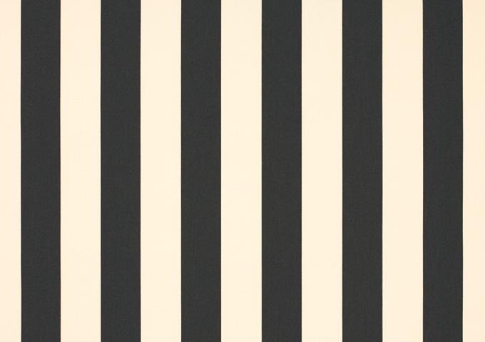 Toile de store banne Dickson rayures col crème/noir (crème/noir)