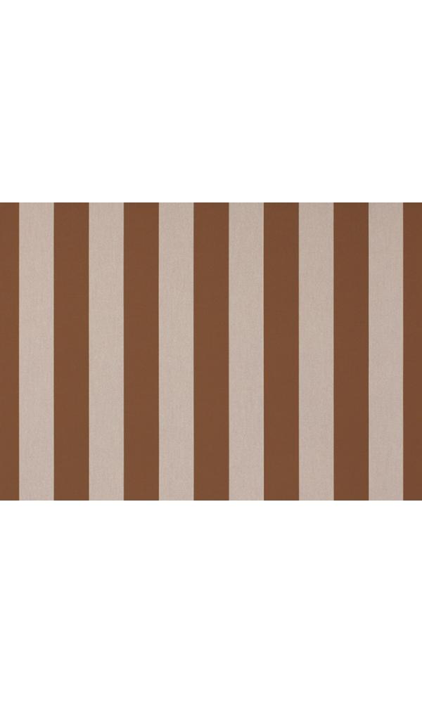 Toile de store banne Dickson rayures col marron (Marron)