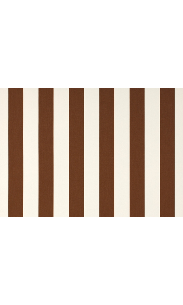 Toile de store banne Dickson col rayures blanc marron
