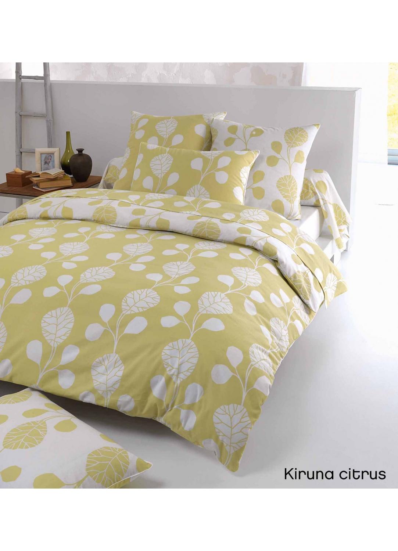 housse de couette kiruna citrus imprim s feuille vert anis homemaison vente en ligne. Black Bedroom Furniture Sets. Home Design Ideas