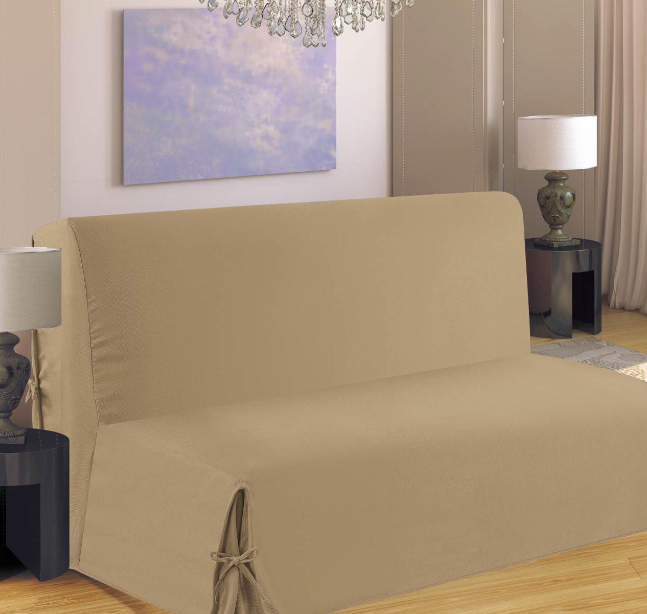 Housse de canapé pour BZ - Beige - 140 x 190 cm