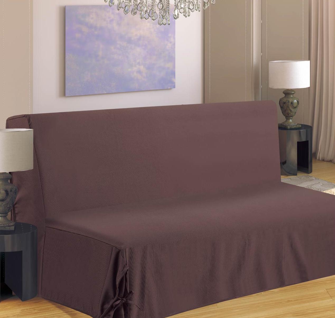 Housse de canapé pour BZ - Taupe - 140 x 190 cm