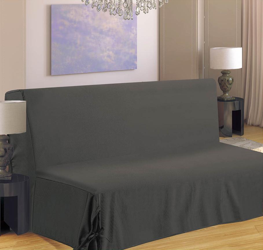 Housse de canapé pour BZ - Gris - 140 x 190 cm