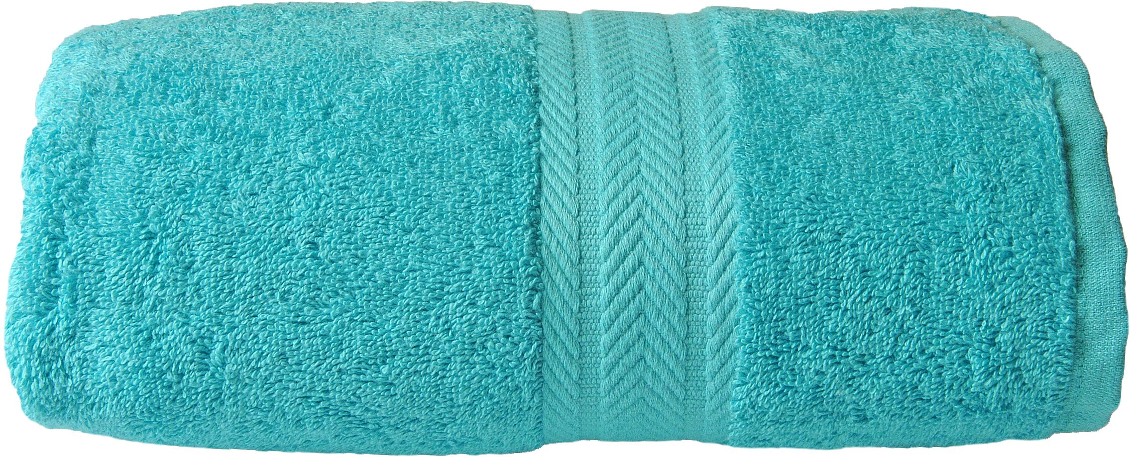 Drap de douche 70 x 140 cm en Coton couleur Bleu turquoise (Bleu Turquoise)