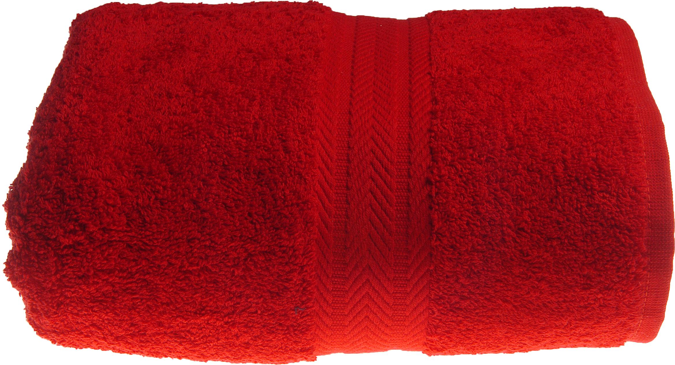 Drap de douche 70 x 140 cm en Coton couleur Rubis (Rubis)