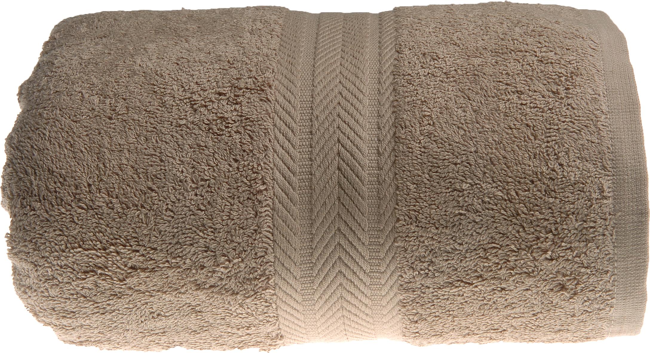 Drap de douche 70 x 140 cm en Coton couleur Taupe (Taupe)