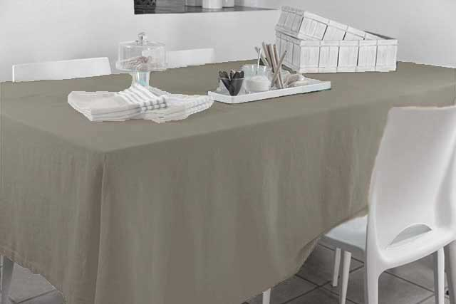nappe rectangulaire en coton 100 recycl gris taupe lin naturel chocolat. Black Bedroom Furniture Sets. Home Design Ideas