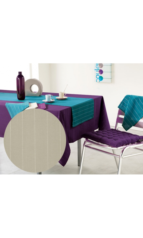 Nappe rectangulaire 140x250  LULU WORD lin (Lin)