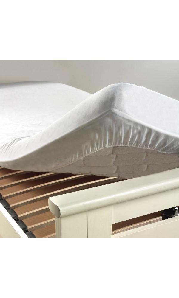 Protége matelas en éponge, peva et anti acarien Ponny - Blanc - 160 x 200 cm