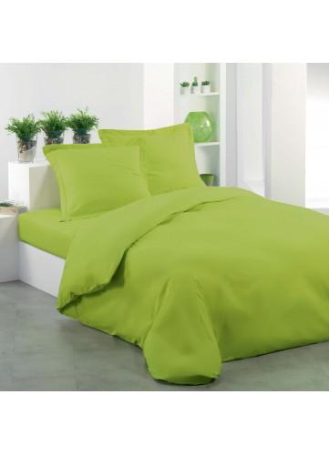 Housse de couette unie Lina - Pistache - 240 x 220 cm. Housse de couette unieCe linge de lit auxcoloris vifs et colorésEn&nbs