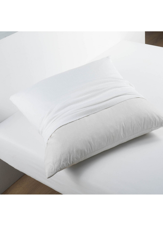 prot ge oreiller molleton molly blanc homemaison vente en ligne taies d oreillers. Black Bedroom Furniture Sets. Home Design Ideas