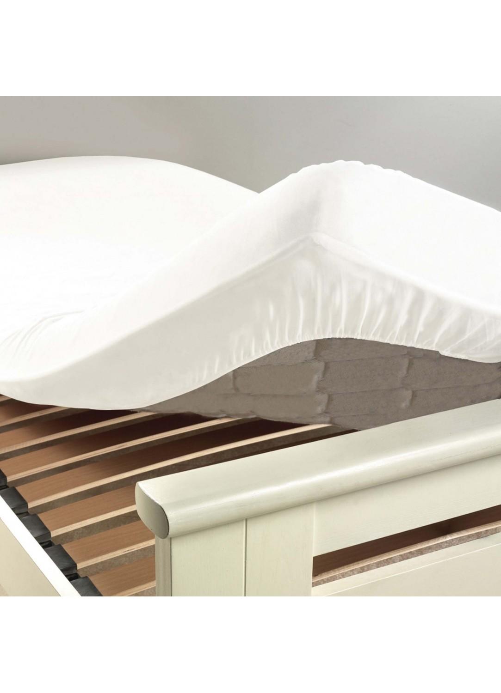 drap housse uni 2 personnes lina blanc outremer gris souris cacao drag e. Black Bedroom Furniture Sets. Home Design Ideas