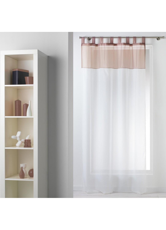 voilage bicolore passants taupe aubergine noir gris homemaison vente en ligne. Black Bedroom Furniture Sets. Home Design Ideas