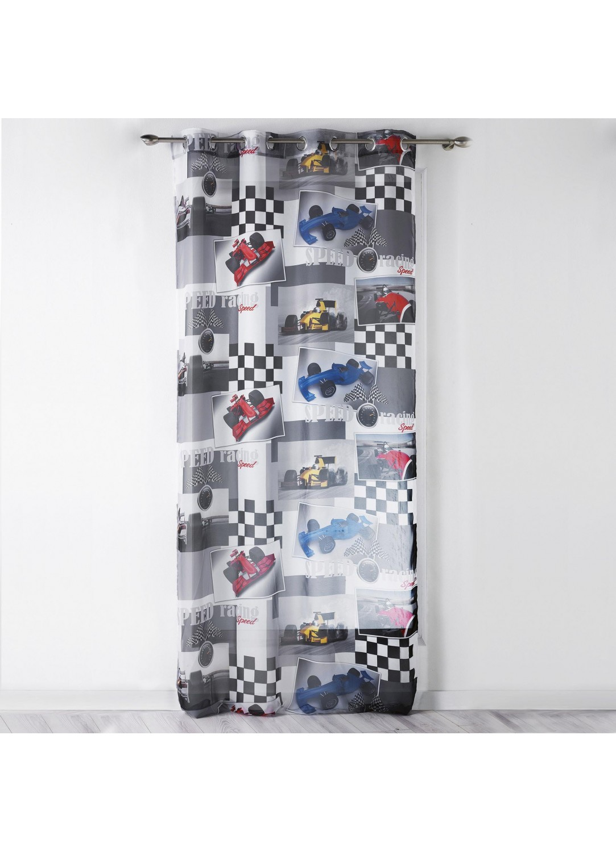 voilage imprim formule 1 multicouleurs homemaison. Black Bedroom Furniture Sets. Home Design Ideas