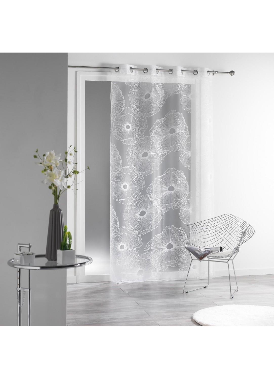 voilage en organza d vor blanc homemaison vente en ligne voilages. Black Bedroom Furniture Sets. Home Design Ideas
