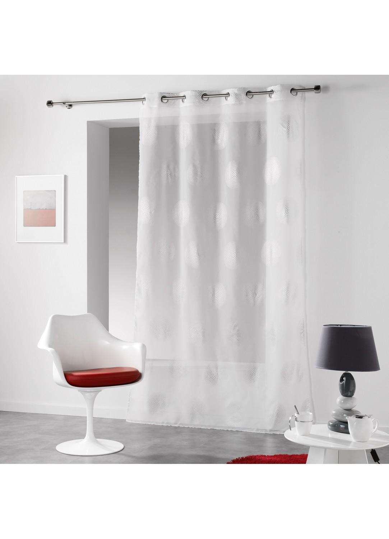 voilage imprim oeillets cercles hypnotiques. Black Bedroom Furniture Sets. Home Design Ideas