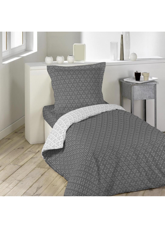 housse de couette motifs graphiques une personne anthracite homemaison vente en ligne. Black Bedroom Furniture Sets. Home Design Ideas