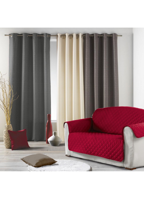 prot ge fauteuil matelass en polyester noir rouge naturel noisette anthracite. Black Bedroom Furniture Sets. Home Design Ideas