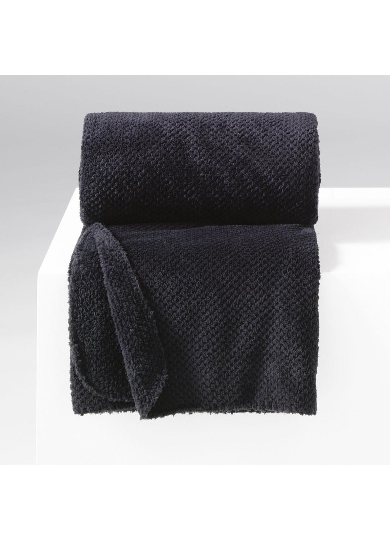 jet de canap uni en flanelle jacquard noir rouge. Black Bedroom Furniture Sets. Home Design Ideas