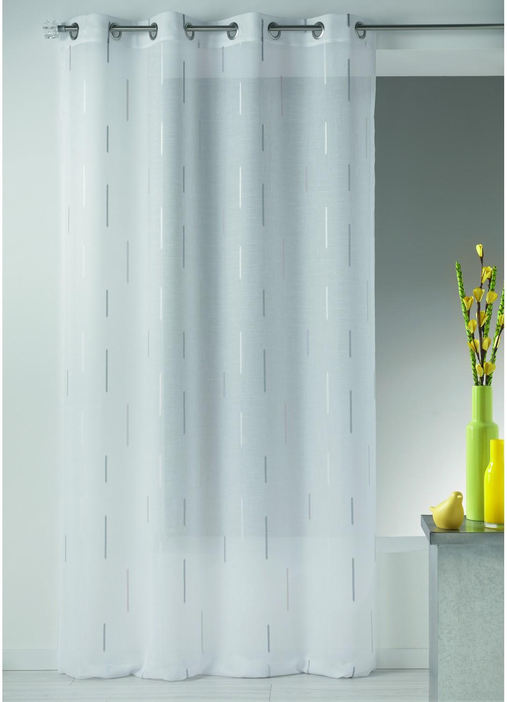 voilage en tamine jacquard imprim s fantaisies gris blanc homemaison vente en ligne. Black Bedroom Furniture Sets. Home Design Ideas