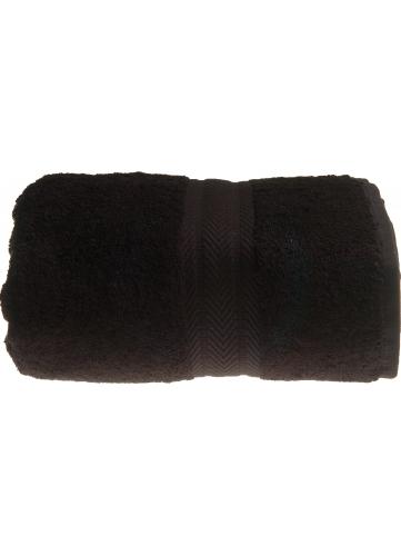 Drap de douche 70 x 140 cm en Coton couleur Noir