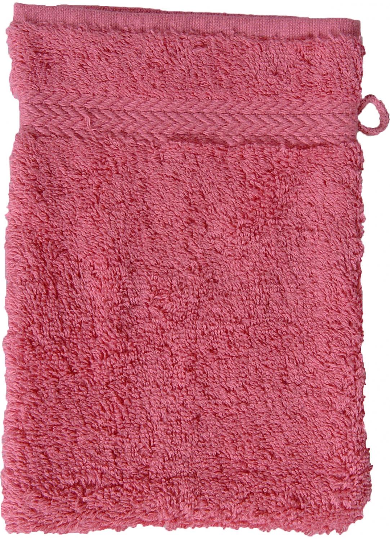 Gant de toilette 16 x 22 cm en Coton couleur Framboise