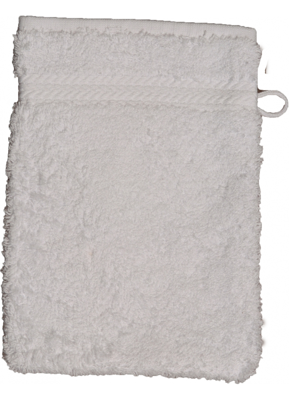 Gant de toilette 16 x 22 cm en Coton couleur Blanc (Blanc)