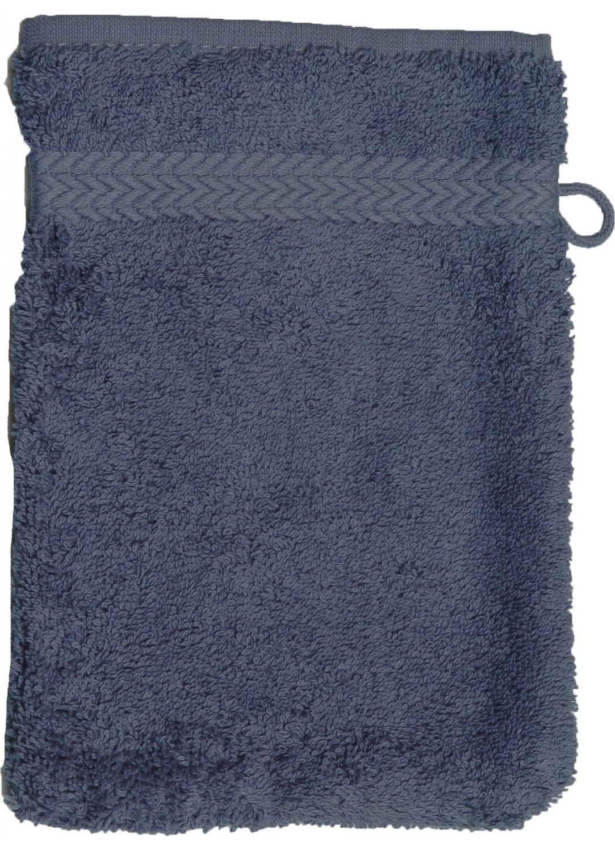 Gant de toilette 16 x 22 cm en Coton couleur Bleu jean (Bleu Jean)