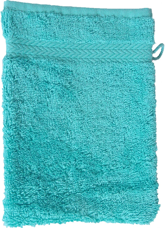 Gant de toilette 16 x 22 cm en Coton couleur Bleu turquoise (Bleu Turquoise)