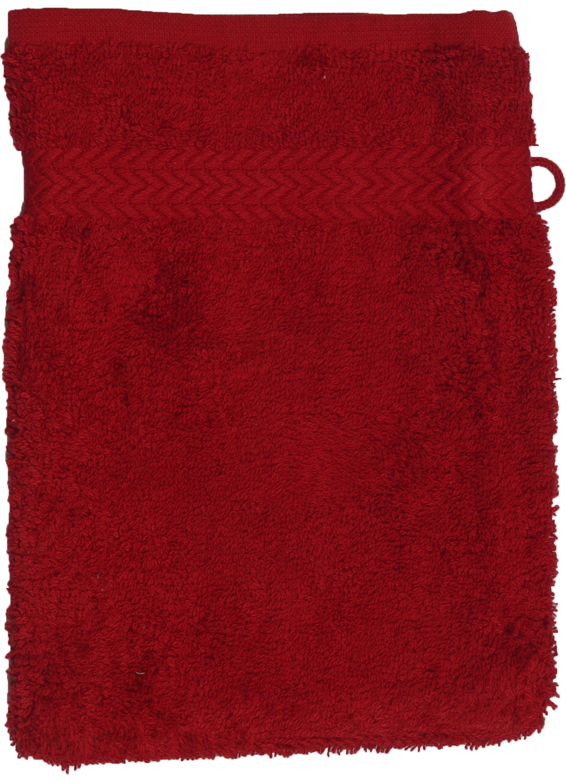 Gant de toilette 16 x 22 cm en Coton couleur Bordeaux (Bordeaux)