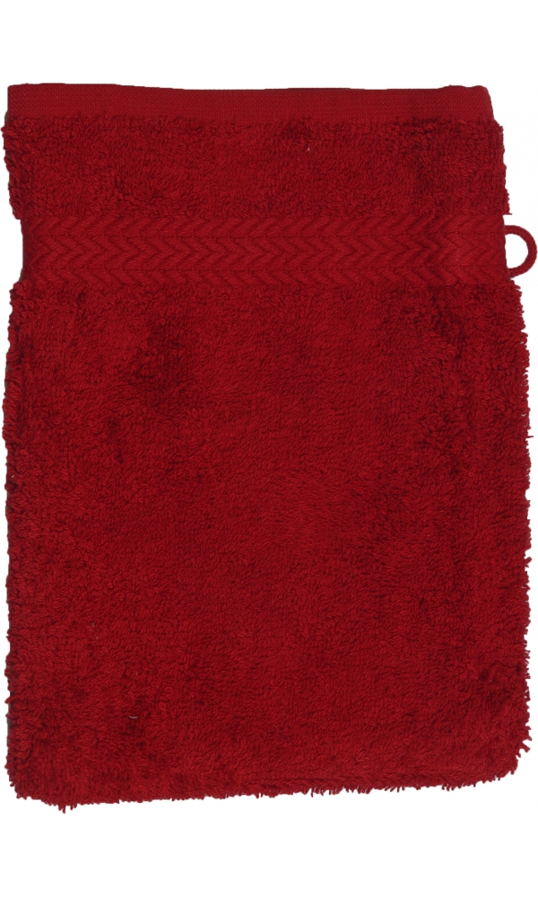 Gant de toilette 16 x 22 cm en Coton couleur Bordeaux