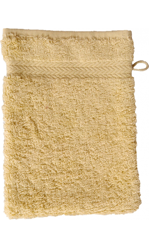 Gant de toilette 16 x 22 cm en Coton couleur Chardonnay