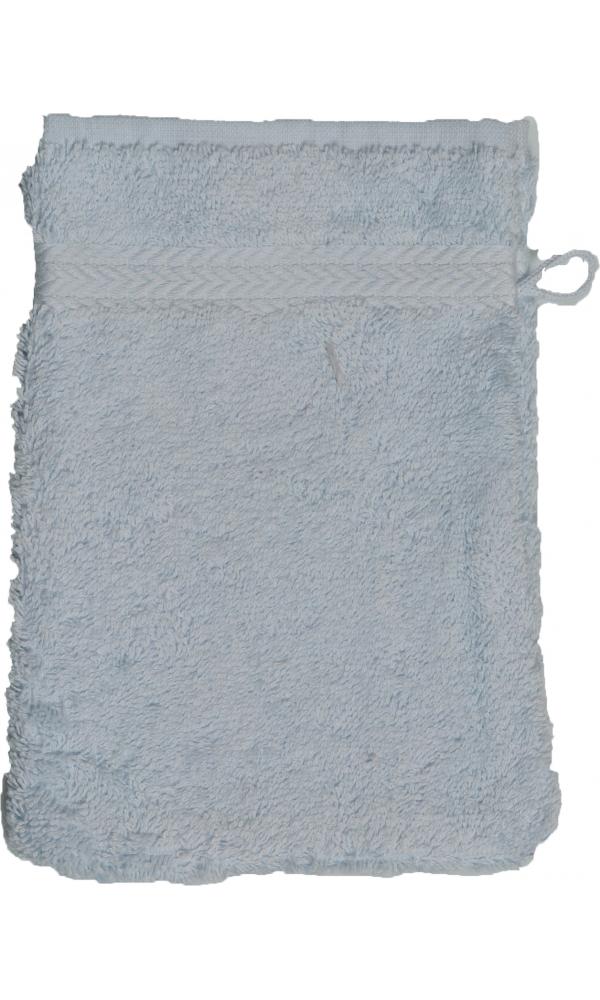 Gant de toilette 16 x 22 cm en Coton couleur Ciel