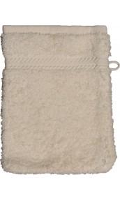 Gant de toilette 16 x 22 cm en Coton couleur Ecru