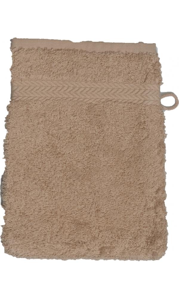 Gant de toilette 16 x 22 cm en Coton couleur Ficelle