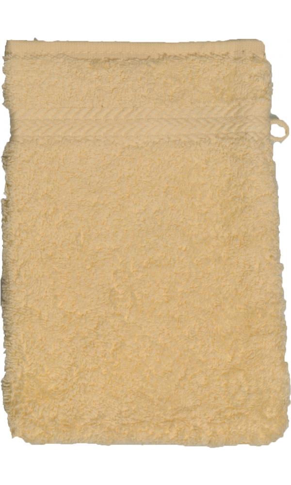 Gant de toilette 16 x 22 cm en Coton couleur Jaune
