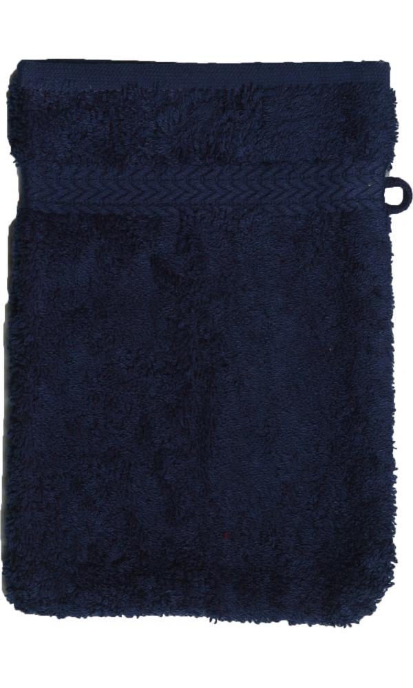 Gant de toilette 16 x 22 cm en Coton couleur Marine