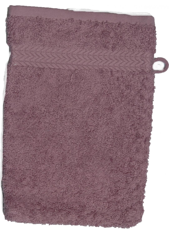 Gant de toilette 16 x 22 cm en Coton couleur Mûre (Mûre)